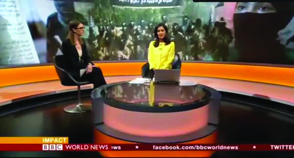 Joana Cook on BBC World News talking about women and children in ISIS.