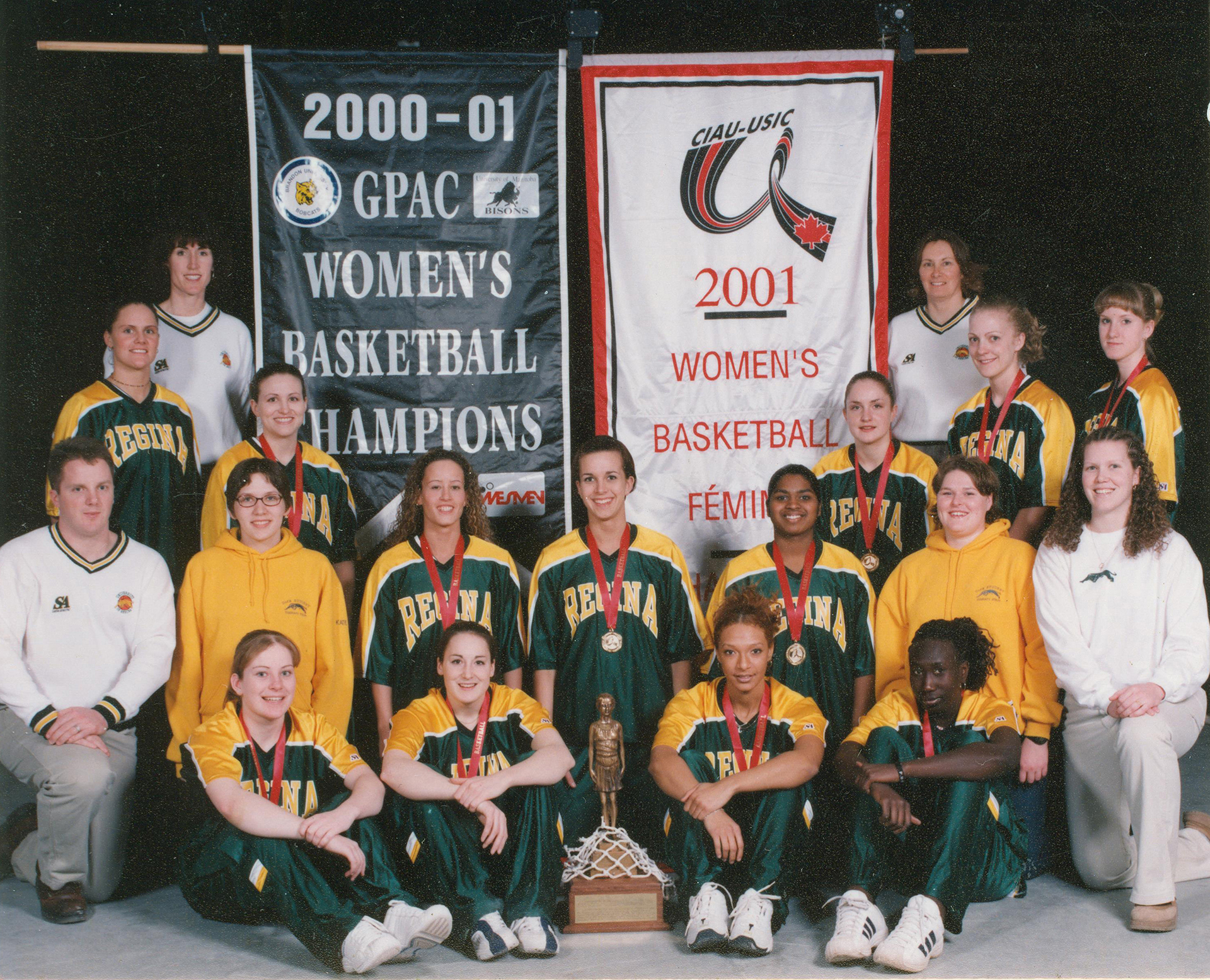 The 2000-01 CIS championship women's CIS team.