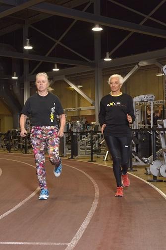 Carol LaFayette-Boyd and Selina Coward on track