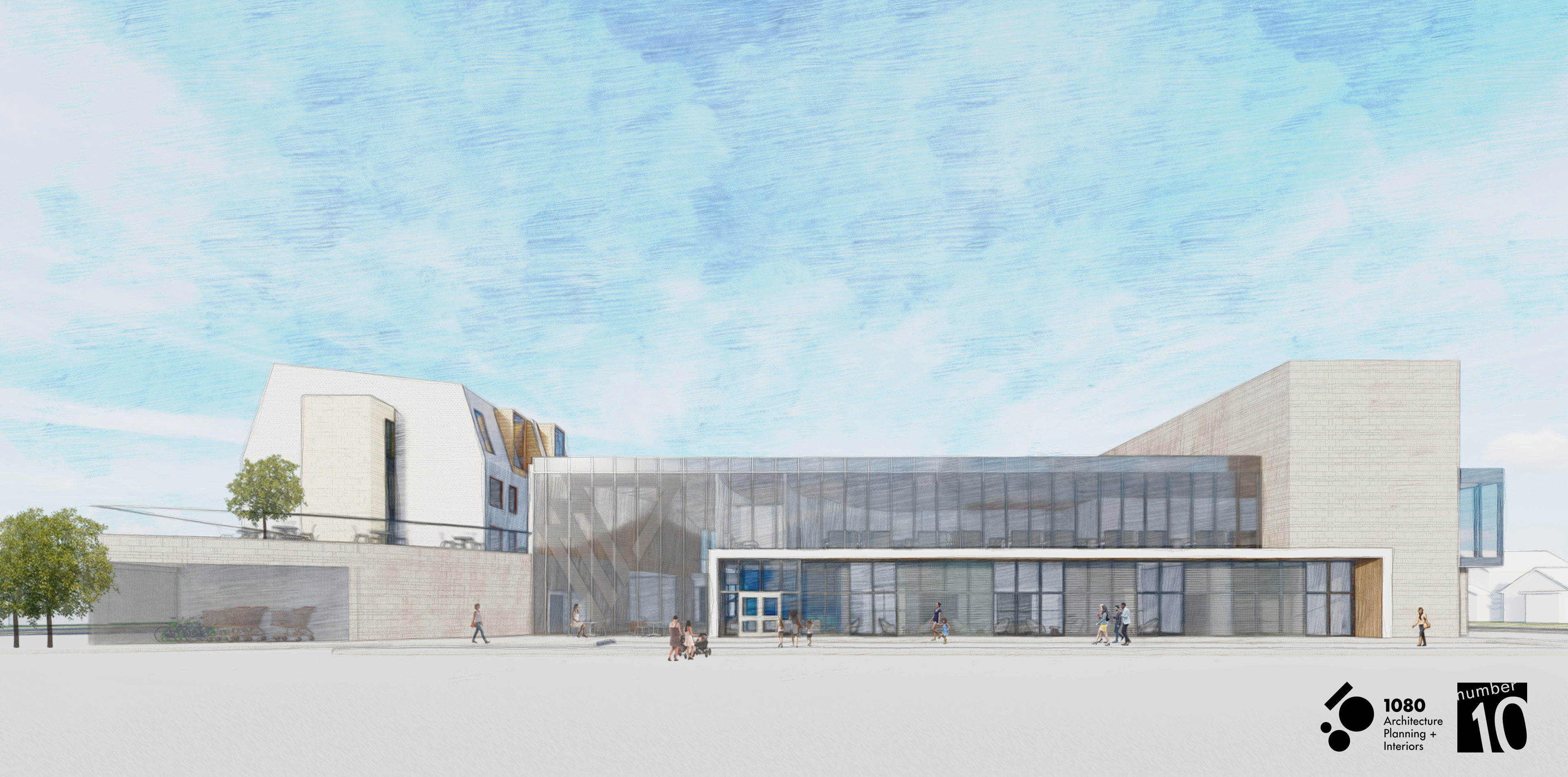 An architectural rendering of the north elevation of the YWCA Regina's $45 million Centre for Women and Families set for opening in 2022. Courtesy of YWCA Regina