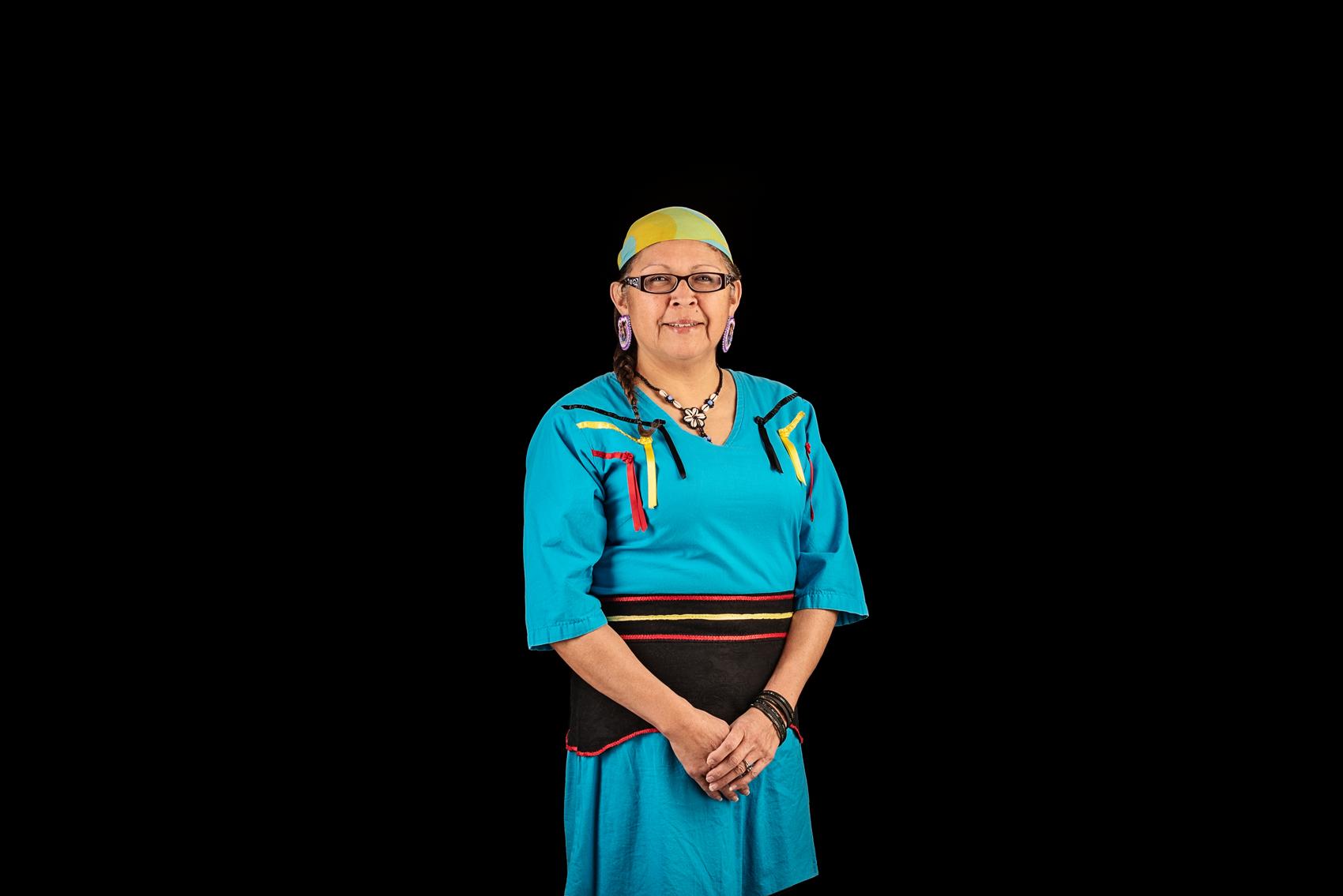 Margaret Kisikaw Piyesis, CEO of Regina's All Nations Hope Network. Photo by Carina Gartner, Details Photography Studio