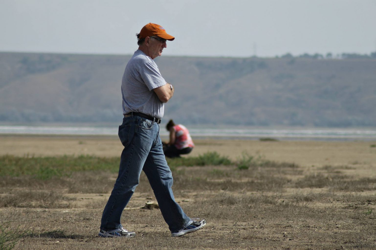 Eisler takes a walk while on the set of Anton near Odessa, Ukraine. Photo  courtesy of Dale Eisler