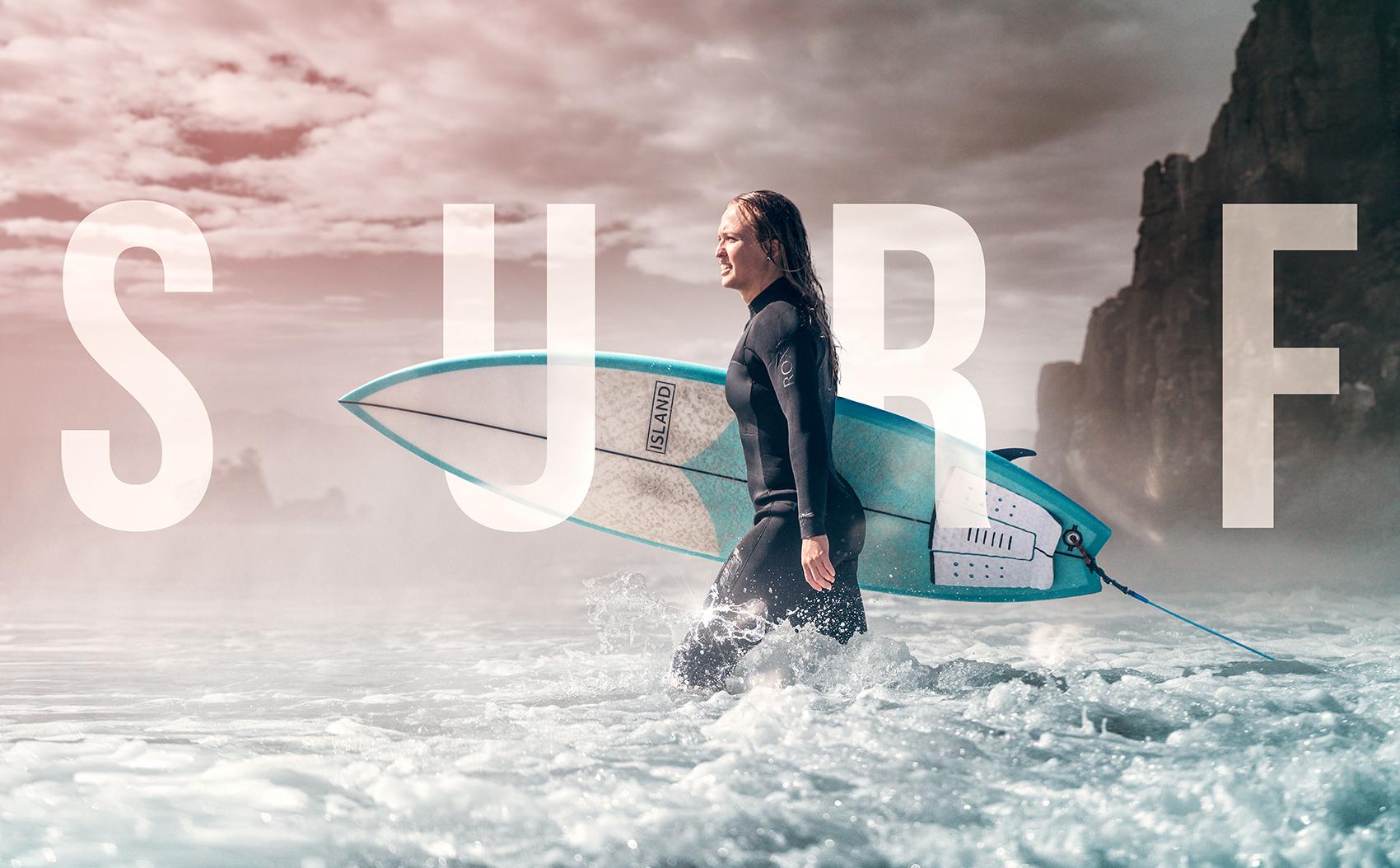 <small>New Zealand surfer Freya Bullock.</small>