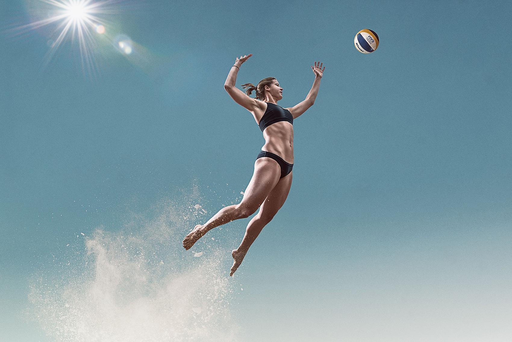 <small>Canadian beach volleyball athlete Megan Nagy.</small>