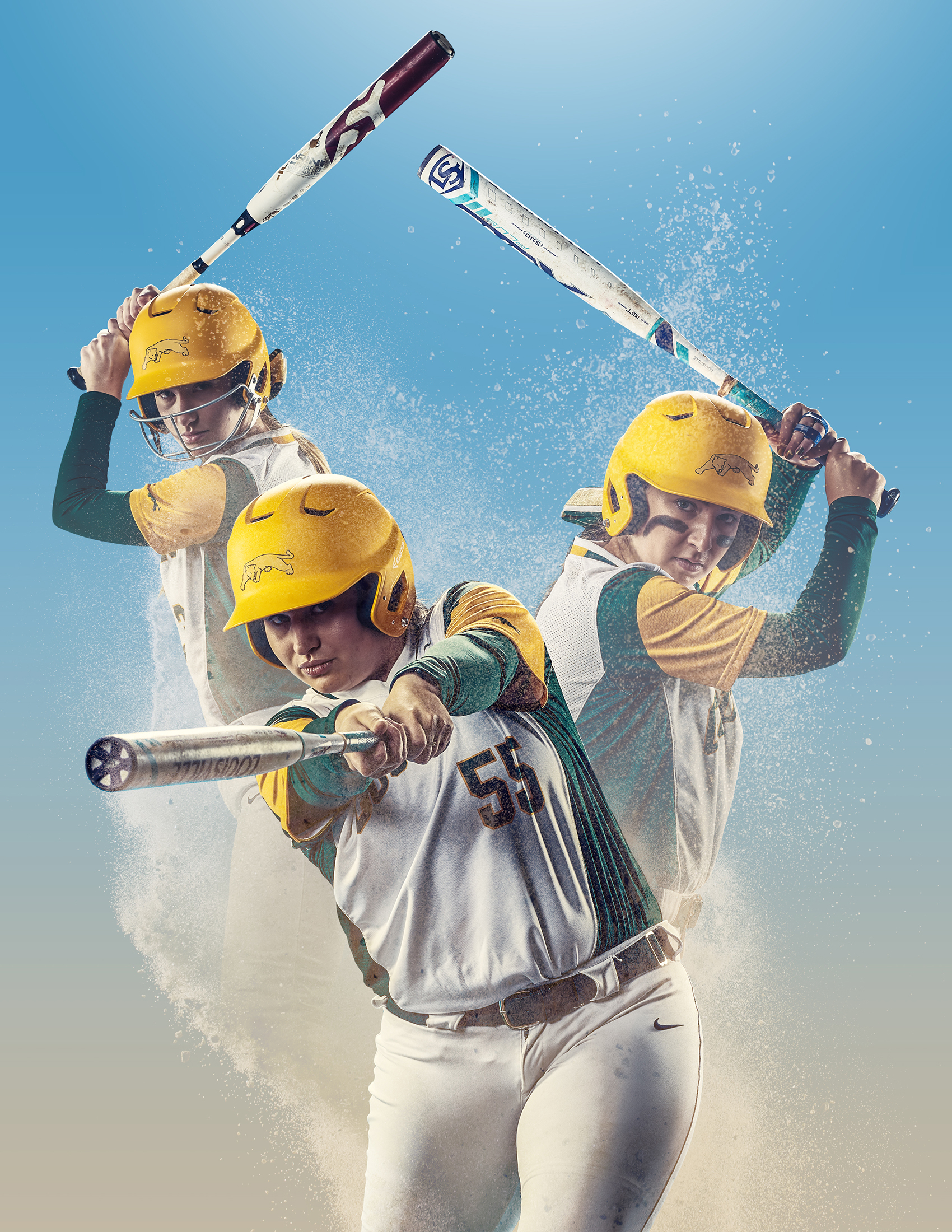 <small>Members of the University of Regina women's softball team in a photo entitled The Battery.</small>