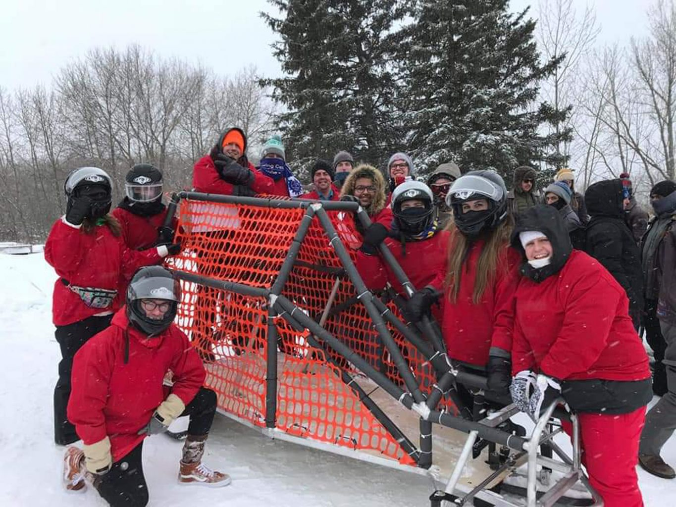 The faculty has a long and rich history of student groups such as the Regina Engineering Concrete Toboggan Team. Other groups that have been bringing together students in fun and meaningful ways include Cougar Racing, Engineers Without Borders, the Institute of Electrical and Electronic Engineering, and newer groups such as U of R Robotics, and the American Society of Heating, Refrigerating and Air-Conditioning.