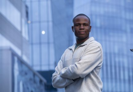 Simi Falaye received his degree in Software Systems Engineering in 2018 and participated in four co-op work terms. (Photo by David Stobbe)