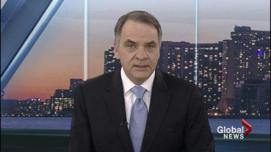 O'Shea is an award-winning investigative and consumer reporter and is regarded as one of the most tenacious reporters  in television. He's shown here anchoring Global News in 2015.