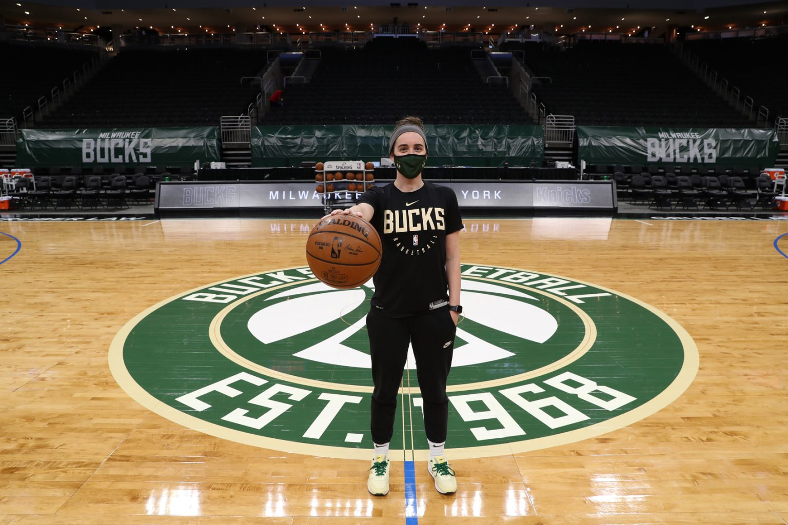 Growing up in California, former Cougars women's basketball player Sidney Dobner never imagined she would be a student-athlete in Saskatchewan, let alone coach in the National Basketball Association. (Photo courtesy of Milwaukee Bucks.)