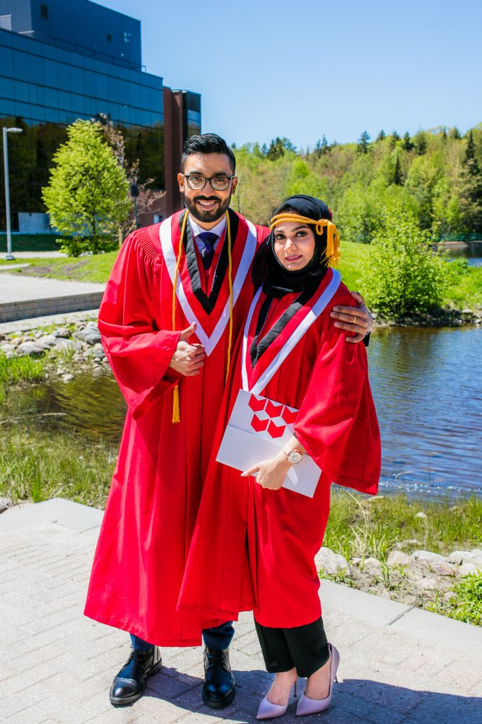 Ramiz and his wife, Faeqa Farooq, were both accepted for postgraduate diplomas at Canadore College in North Bay, Ontario where Ramiz earned a certificate in project management and IT with academic honours in 2019.