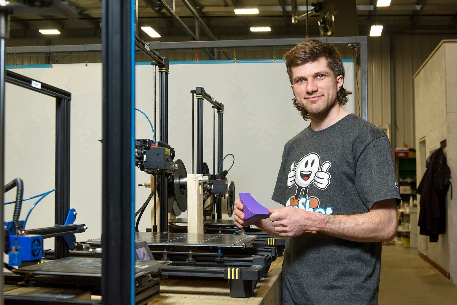 Andrew Burant serves as project manager and robotics administrator for OneShot Golf.