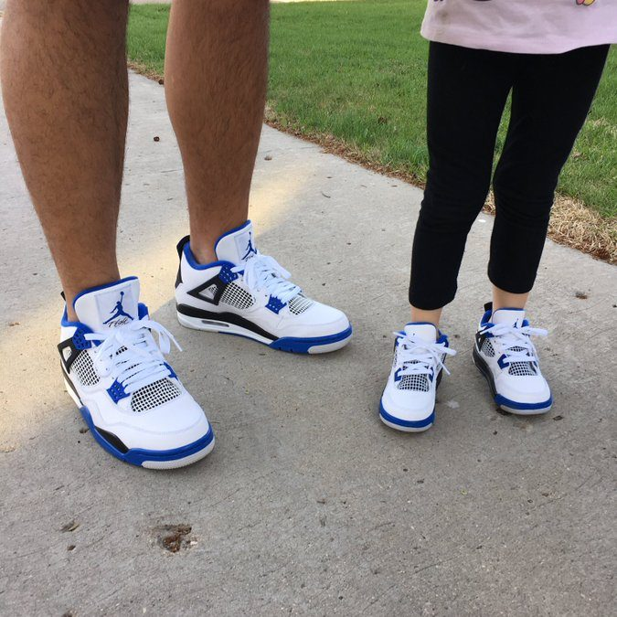 Pulga is sharing his basketball shoe obsession with his daughter Estelle. Photo courtesy of Allan Pulga