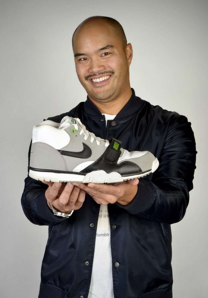"""In Grade 2 Pulga wanted but didn't get Nike's 1987 Air Trainer 1 """"Chlorophyll."""" He was finally able buy a pair when Nike reissued them in 2012. Photo by Trevor Hopkin"""